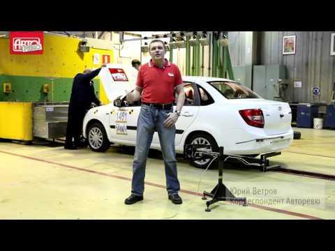 Аварийное испытание (Краш-тест) Лада Гранта (ВАЗ 2190) с двумя подушками безопасности.