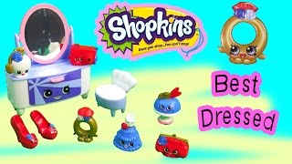 getlinkyoutube.com-Shopkins Season 3 Playset Best Dressed Collection Fashion Spree Exclusive Dresser Shoes Toy Video