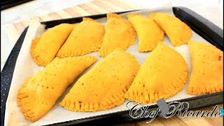 getlinkyoutube.com-Jamaican Chicken Patties Recipe from Chef Ricardo Cooking