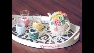 getlinkyoutube.com-تلبيسة كورشيه لابريق الشاي /How to Make a Tea Cosy