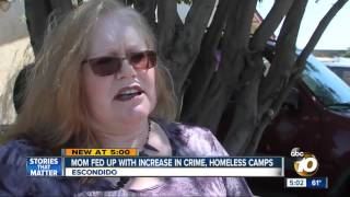 Mom fed up with increase in crime, homeless camps
