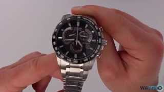 getlinkyoutube.com-Citizen Radio Controlled Atomic Chronograph Watch AT4008-51E - Hands On Review