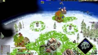 getlinkyoutube.com-Age of Mythology Magic(Gaia) vs Fen(Zeus) on Midgard