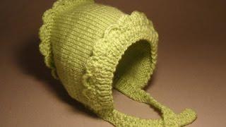 getlinkyoutube.com-Детские шапочки крючком и спицами.№2 Шапочка для новорожденного
