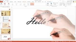 getlinkyoutube.com-สาธิตเทคนิคการทำอนิเมชัน ปากกาเขียนตัวอักษร ด้วย PowerPoint