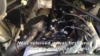 "getlinkyoutube.com-""Black Death"" Mercedes Benz Vito 639 Injector leak fix DIY HD"