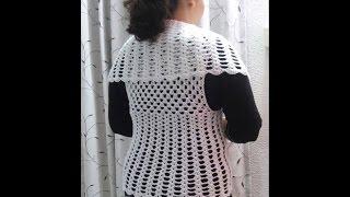 getlinkyoutube.com-Chaleco con grany y tejido en circular