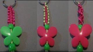 getlinkyoutube.com-Como hacer un llavero con hilo de cola de rata ( 3 diseños, 1 técnica ) (llavero #8)