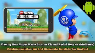 Dolphin Emulator New Super Mario Bros. Wii on Xiaomi Redmi Note 4x