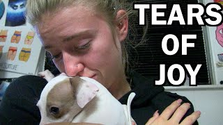 getlinkyoutube.com-SHE'S SO HAPPY SHE CRIED!! New Puppy Surprise.