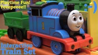 getlinkyoutube.com-The Kids Love Thomas & Friends! Thomas the Tank Engine Interactive Train Set and Take N Play
