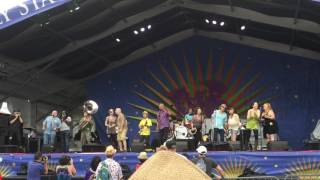"""Foot of Canal Street"" Sanchez/Boutte,  Paul Sanchez and the Rolling Road Show, Jazzfest 2016."