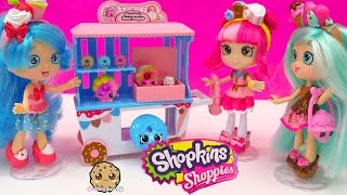 getlinkyoutube.com-Shoppies Doll Donatina's Donut Delights Playset Season 4 Exclusives + Mini Shopkins Toy Video