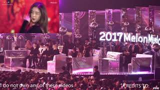 Wanna One, Exo, Twice, and Winner reaction to Red Velvet @ MMA 2017