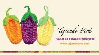 getlinkyoutube.com-Choclo o maíz agarrador de ollas en dos agujas y crochet (Parte 1: choclo)