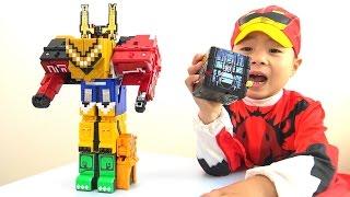 getlinkyoutube.com-ジュウオウジャー おもちゃ ワイルドジュウオウキング キューブ Power Rangers Zyuohger Toys