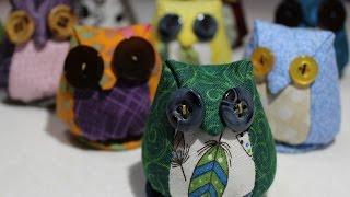 getlinkyoutube.com-How to make an Owl Pincushion