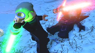 getlinkyoutube.com-LEGO Star Wars The Force Awakens Luke Skywalker VS Kylo Ren Final Boss Fight