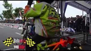 getlinkyoutube.com-FULL batlle !! 4T 130 CC TU AHRS Drag bike championship series4 indonesia drag bike