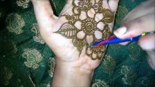 getlinkyoutube.com-beautiful easy mehndi designs for hands-simple easy henna designs tutorials