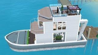 getlinkyoutube.com-The Sims 3 House Boat building | SS Paradiso (Including dock)