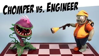 getlinkyoutube.com-Plants vs. Zombies Garden Warfare Chomper & Engineer Diamond Select Toys