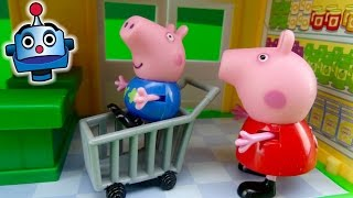 getlinkyoutube.com-Supermercado de Peppa Pig