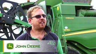 John Deere T670i Combine Testimonial Video - Sam Dore, Chesterfield