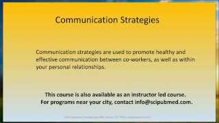 Communication Strategies Promo - SciPubMed.com