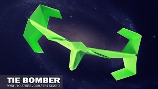 Best Paper Planes - How to make a paper airplane that Flies Well | Star Wars Tie Bomber