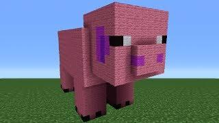 getlinkyoutube.com-Minecraft Tutorial: How To Make A Pig Statue
