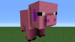 Minecraft Tutorial: How To Make A Pig Statue