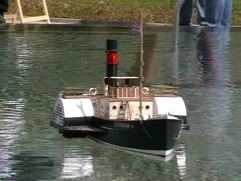 RC Paddle Steamer Boat - Glasgow - Steam Tug Boat