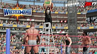 getlinkyoutube.com-WWE 2K17 - Money In The Bank Ladder Match Gameplay With Wrestlemania 33 DAYTIME ARENA (PS4/XBOX ONE)