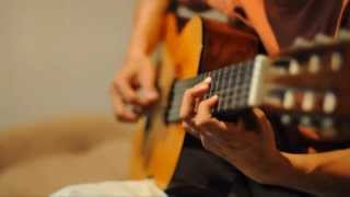 getlinkyoutube.com-Ruth Sahanaya - Kaulah Segalanya on classical guitar