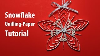 getlinkyoutube.com-[Paper Quilling] Snowflake Decorations for X-mas tutorial
