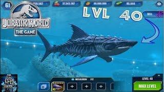 getlinkyoutube.com-MEGALODON MAX LVL (40) - Jurassic World The Game - *Aquatic Update*