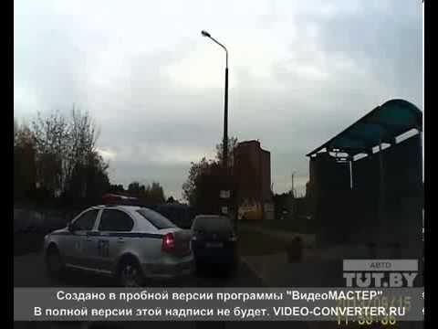 В Минске водитель догнал машину с пьяным за рулем