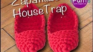 getlinkyoutube.com-Tutorial Zapatillas Housetrap de trapillo paso a paso