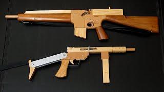 getlinkyoutube.com-[HD] Błyskawica and M16A1 rubber band guns