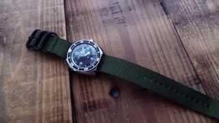 getlinkyoutube.com-Vostok Amphibia 710 - The Urban Woodsmans EDC Watch
