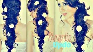 getlinkyoutube.com-★ROMANTIC CURLY CASCADING HAIRSTYLES   UPDOS FOR MEDIUM LONG HAIR TUTORIAL   PROM WEDDING HOMECOMING
