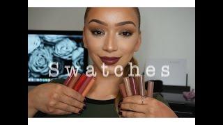 getlinkyoutube.com-NEW Sephora Liquid Lipsticks ONLY $14 Swatches