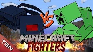 getlinkyoutube.com-SPIDER QUEEN VS MUTANT CREEPER : MINECRAFT FIGHTERS - Arena Battle