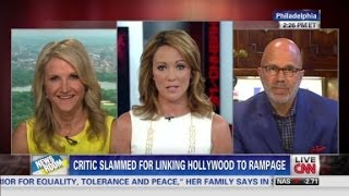Critic slammed for linking Hollywood to shooting rampage.