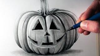 getlinkyoutube.com-How to Draw a Pumpkin