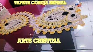 getlinkyoutube.com-TAPETE CORUJA ESPIRAL CROCHE - ARTS CRISTINA ALFOMBRA OWL ESPIRAL