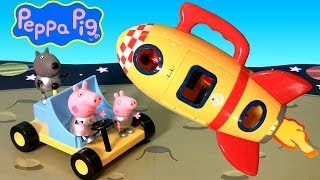 Peppa Pig Spaceship Explorer With Moon Buggy Car Play Doh Nickelodeon Cohete Espacial Astronave