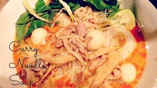getlinkyoutube.com-Kaopoon Curry noodle soup