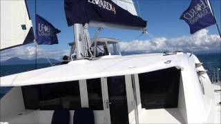 getlinkyoutube.com-Leopard 44 Catamaran sailing in Vancouver, B.C. Canada